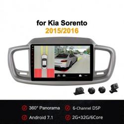 Android 7.1 со встроенным круговым обзором для Kia Sorento