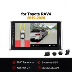 Android 7.1 со встроенным круговым обзором для Toyota RAV4 2019-2020