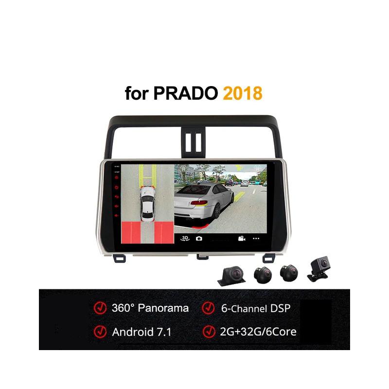 Android 7.1 со встроенным круговым обзором для Toyota Land Cruiser Prado 2018
