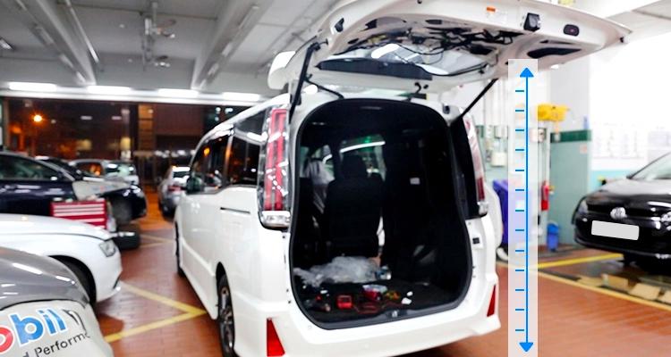 регулируемая высота открытия багажника